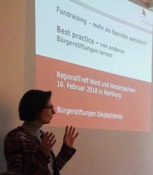 Birgit Schäfer bei der Eröffnung