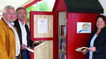 Bücherschrank Lehmwandlung©Bürgerstiftung im Landkreis Nienburg