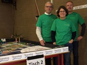 """Frank Lehmeier, Nicola Roloff-Schindler, Volker Dubberke im """"Schiedsrichter-Dress"""""""