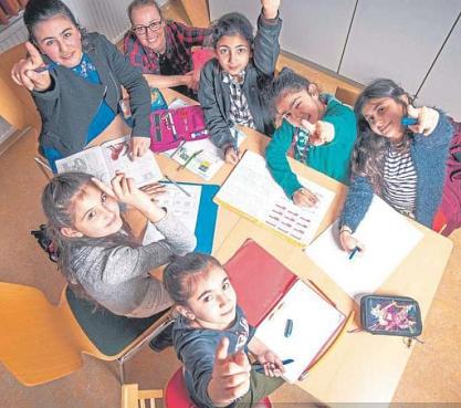 Kinder im Projekt©Bürgerstiftung im Landkreis Nienburg